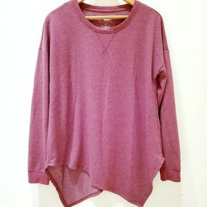 Sonoma | Maroon Long Sleeved Assymetrical Sweater